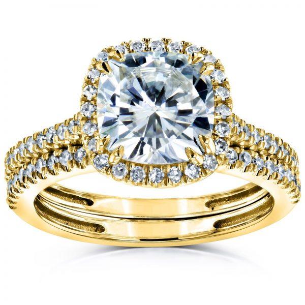 Annello-by-Kobelli-14k-Gold-2-3-8ct-TGW-Moissanite-and-Diamond-Cushion-Halo-Bridal-Rings-Set-HI-VS-GH-I-2e64ec90-be2a-4a90-9285-4df98e98351e