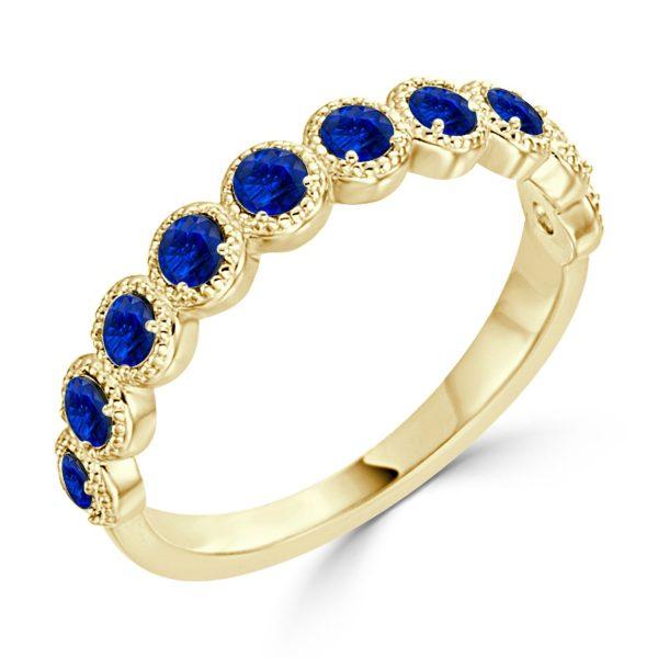 Auriya-10K-Gold-1-3ct-TDW-Bezel-Blue-Sapphire-Beaded-Gemstone-Wedding-Band-429cf67a-da19-4edf-bbb3-2e087b563573