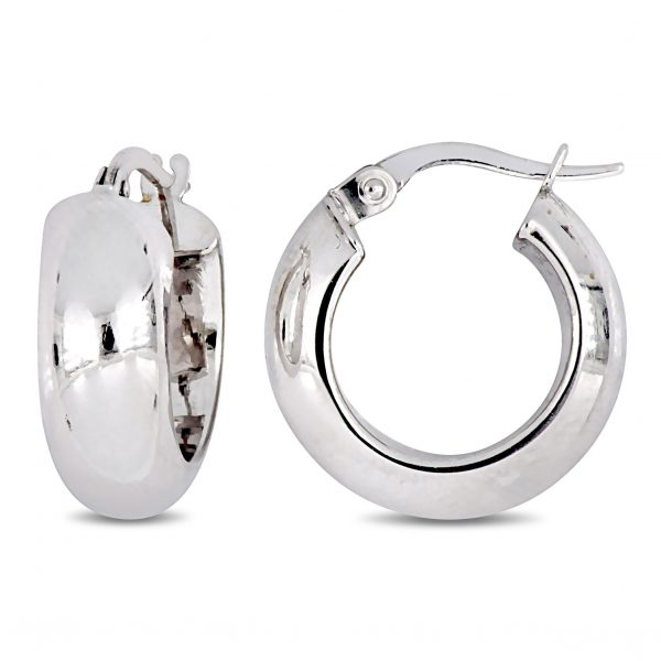 Miadora-10k-White-Gold-Huggie-Hoop-Earrings-18146103-01ba-4dd7-93ad-4e9e96f5f5d7