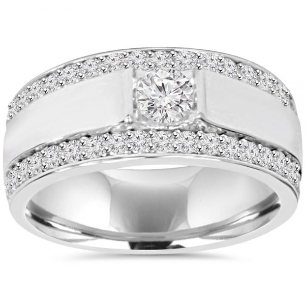 10K Double Row Diamond Ring