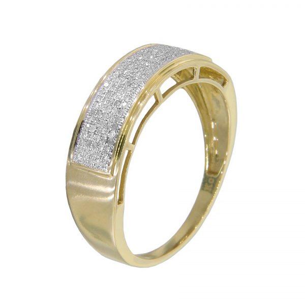 10k White Gold Men's Diamond Ring