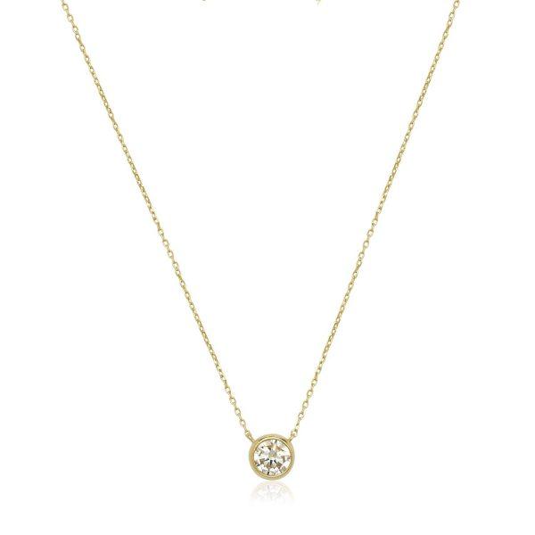 14k-Gold-6mm-Cubic-Zirconia-Bezel-Solitaire-Necklace-White-99fcccd8-9ea6-4970-87ef-c31d47d22d50