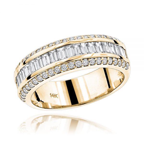 14k Gold Baguette Diamond Ring2
