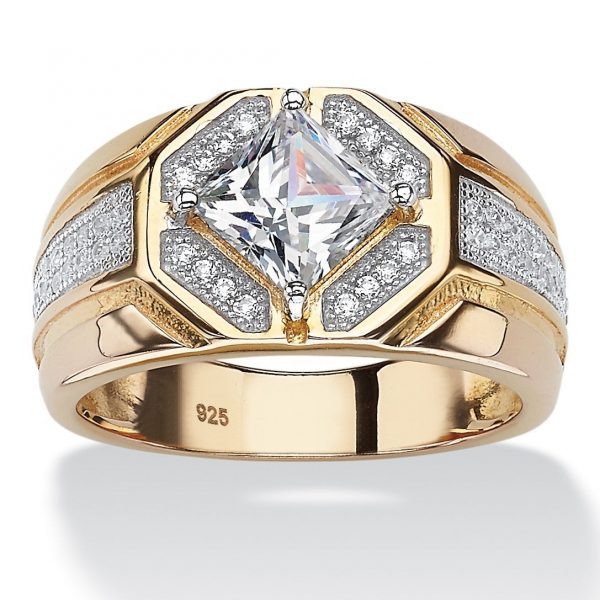 14k Gold Octagon Ring
