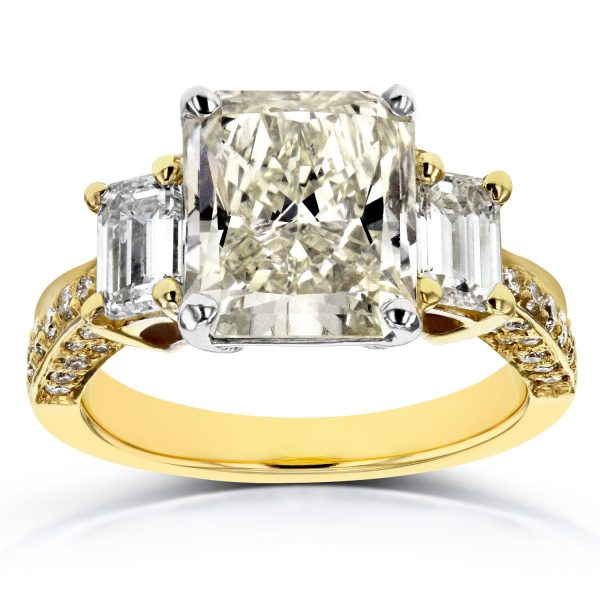 Annello-18k-Two-Tone-Gold-Certified-5-4-5ct-TDW-Three-Stone-Radiant-and-Emerald-Diamond-Engagement-Ring-K-SI1-d30ed302-be3e-4c1e-9ac8-ccd4f8ec3596