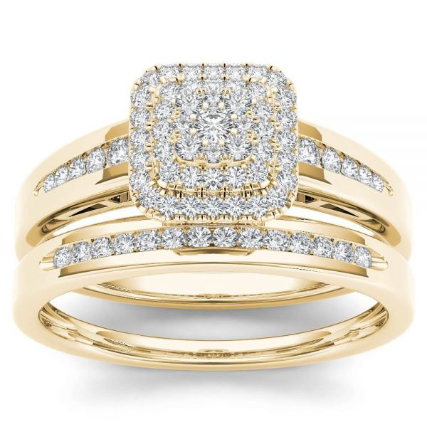 De-Couer-10k-Yellow-Gold-1-3ct-TDW-Diamond-Cluster-Halo-Bridal-Set-H-I-I2-90776a29-2ca8-439a-b9e4-9008f6cd159d_1000