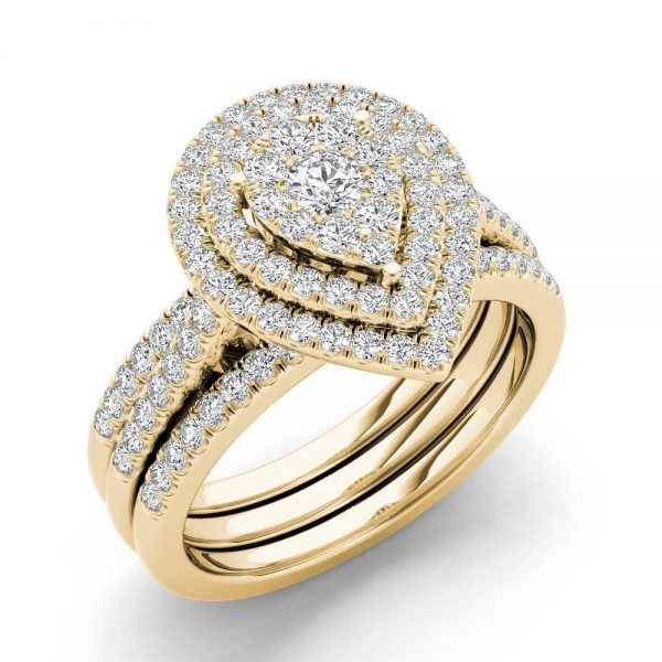 De-Couer-IGI-Certified-1ct-TDW-Pear-Shaped-Cluster-Halo-Bridal-Set-Yellow-fe243fec-cc3a-412f-88c5-01038c5f30ea_1000