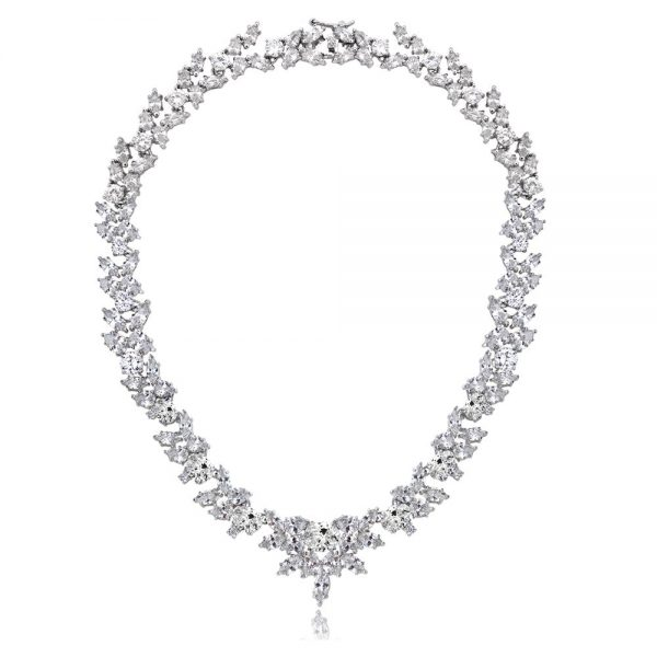 Icz-Stonez-Sterling-Silver-66-7-8ct-TGW-Cubic-Zirconia-Wreath-Estate-Necklace-4e4702c4-86fb-4b27-ab10-0ff9529b8321