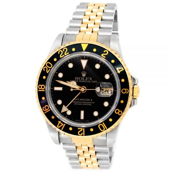 Pre-owned-40mm-Rolex-Two-tone-GMT-Master-II-Watch