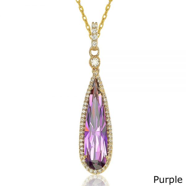 Suzy-Levian-Goldtone-Sterling-Silver-Elongated-Pear-cut-Cubic-Zirconia-Necklace-df986fba-f9b8-4f03-8555-c3657a31a4c9