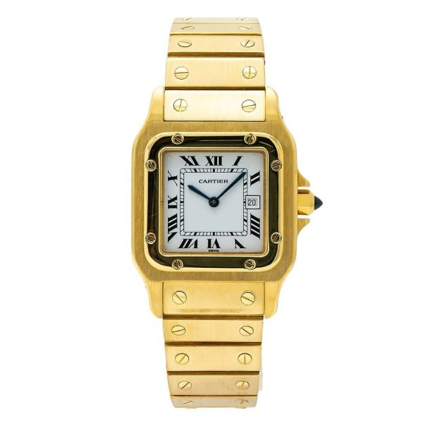 pre-owned-cartier-santos-automatic-white-dial-mens-watch-wgas0007
